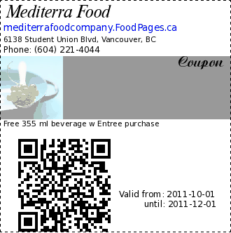 Coupons food vancouver