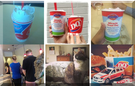 Dairy Queen collage of popular photos
