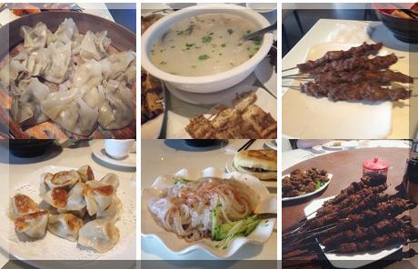Chinese Muslim Restaurant collage of popular photos