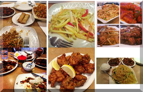 Tangerine Asian Cuisine collage of popular photos