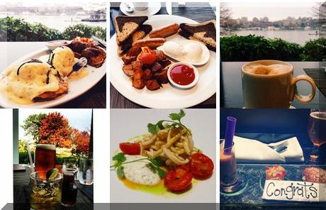 AURA waterfront restaurant + patio collage of popular photos