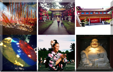 Steveston Buddhist Temple collage of popular photos