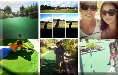 Hi-Knoll Driving Range & Mini-Golf collage of popular photos