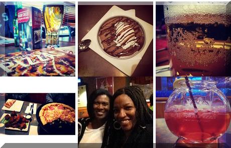 Boston Pizza collage of popular photos