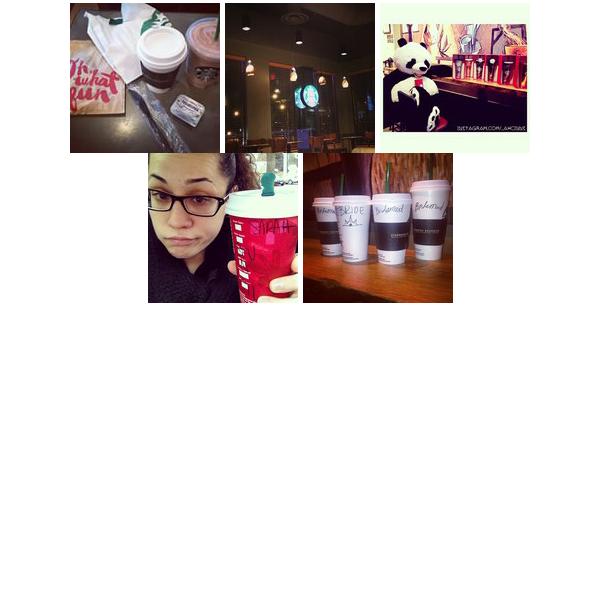 Starbucks Coffee collage of popular photos