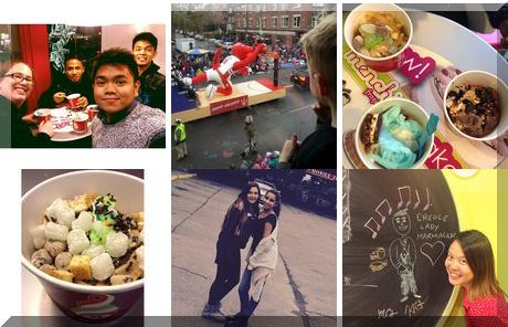 Menchie's Frozen Yogurt collage of popular photos