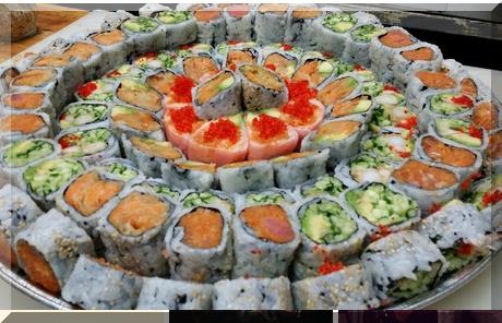 Qi sushi collage of popular photos