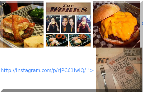 The Works Gourmet Burger Bistro collage of popular photos