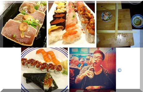 GAYA Sushi collage of popular photos