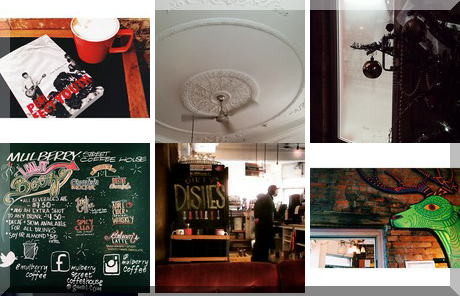 Mulberry Street Coffeehouse collage of popular photos