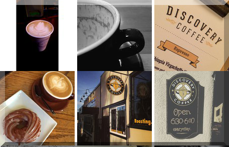 Discovery Coffee collage of popular photos