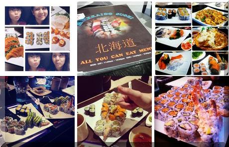 Hokkaido Sushi collage of popular photos