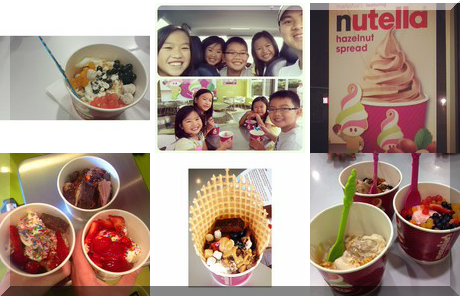 Menchie's Frozen Yogurt collage of popular photos