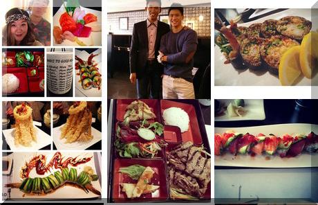 Tomo Sushi collage of popular photos