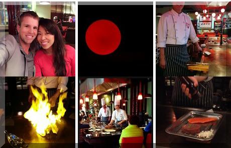 Red Flaming Teppanyaki collage of popular photos