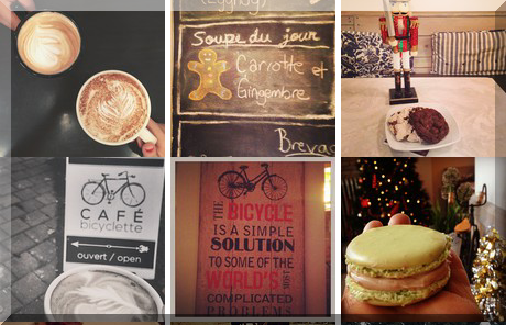 Cafe Bicyclette collage of popular photos