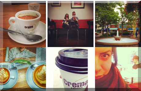 Crema Coffee Co. collage of popular photos