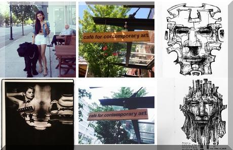 Café for Contemporary Art collage of popular photos