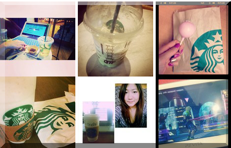 Starbucks collage of popular photos