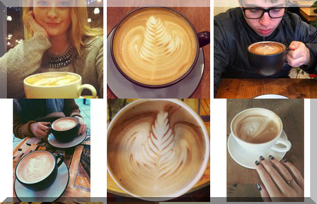 Dolce Vita Coffee Art collage of popular photos