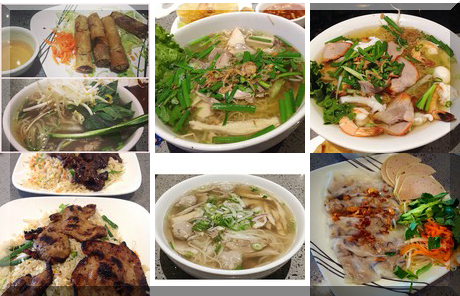 Pho Viet Xpress collage of popular photos