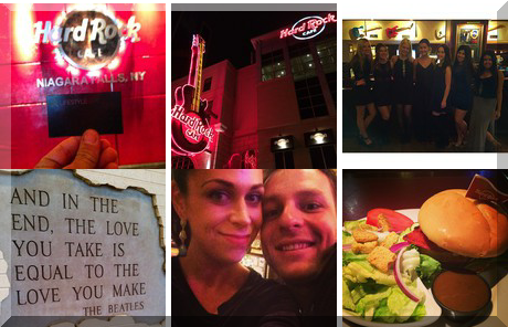 Hard Rock Cafe Niagara Falls USA collage of popular photos