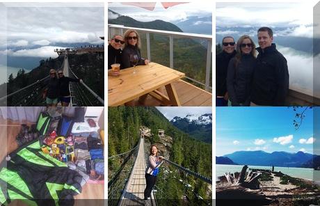 Squamish, British Columbia collage of popular photos