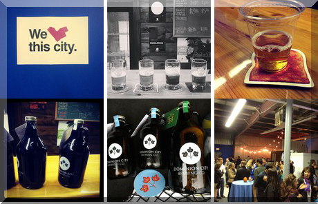 Dominion City Brewing Co collage of popular photos
