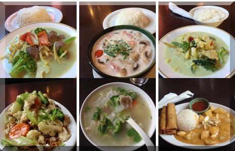 Tom Yum Thai Restaurant collage of popular photos