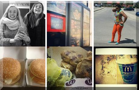 McDonalds Restaurants collage of popular photos