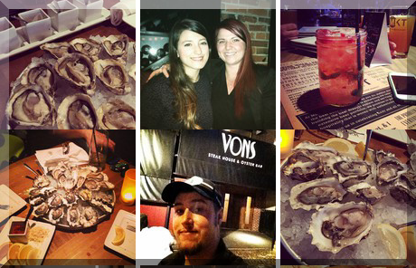 Vons Steakhouse & Oyster Bar collage of popular photos
