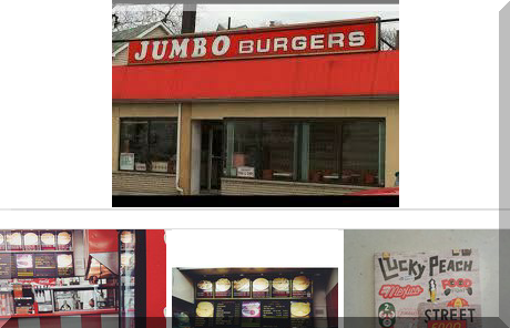 Jumbo Burger collage of popular photos