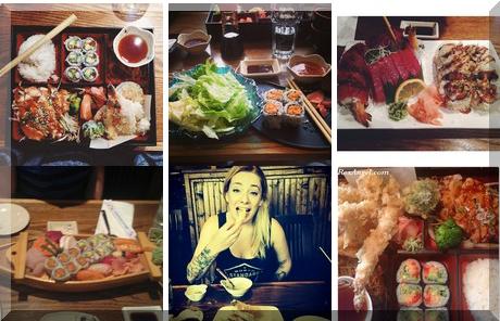 Mazz Sushi collage of popular photos