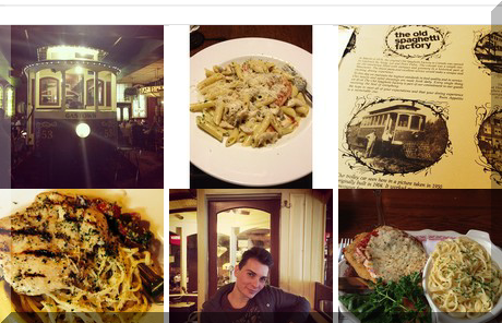 The Old Spaghetti Factory collage of popular photos