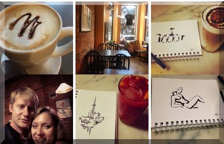 Tik Talk Cafe collage of popular photos
