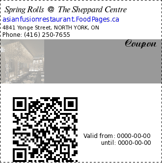 Spring Rolls @ The Sheppard Centre  Coupon.
