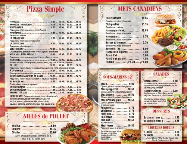Wings Restaurant Hull Menu