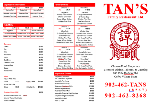Review of Tan's Family Restaurant on 2015-04-19 15:16:48