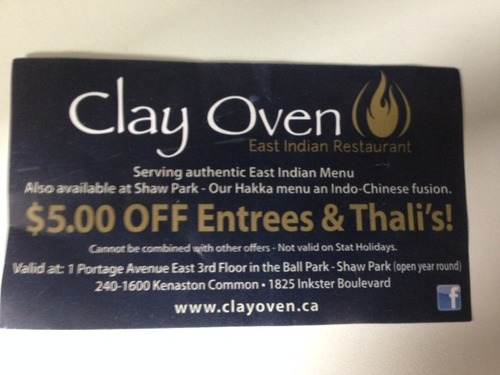 Review of Clay Oven on 2014-08-20 16:34:30