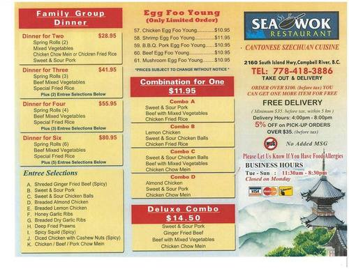 Review of Sea Wok Restaurant  on 2017-01-31 18:35:10